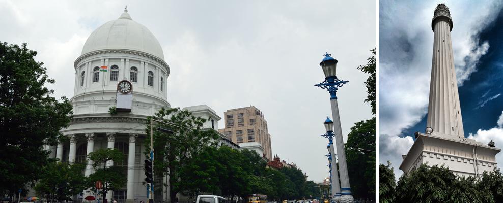 From Left: GPO & Sahid Minar