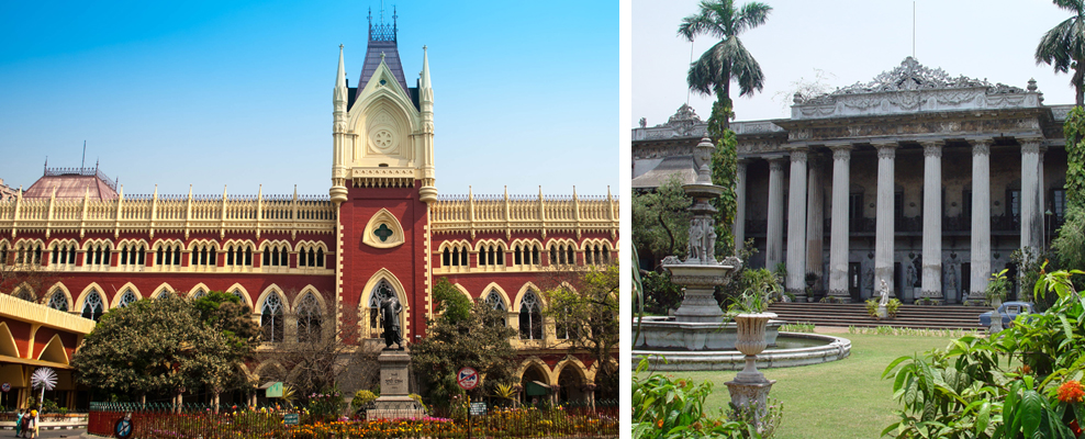 From Left: Calcutta High Court, Marble Palace