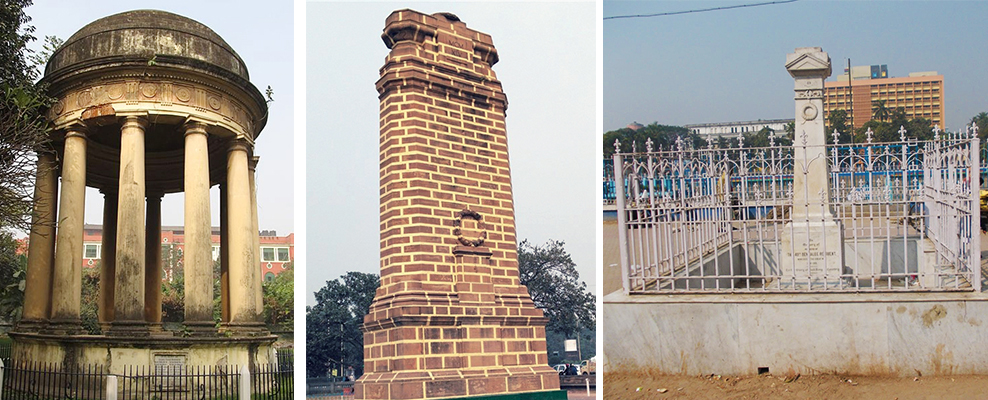 From Left: Rohilla, Cenotaph, Bengal War Memorial